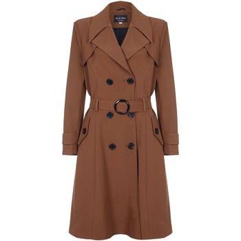 textil Mujer trench De La Creme Trench con cinturón de primavera Brown