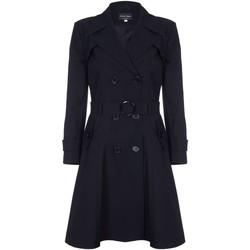 textil Mujer Abrigos De La Creme - Trench con cinturon de primavera para mujer Black