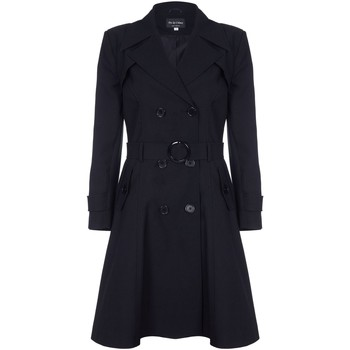 textil Mujer Abrigos De La Creme Trench con cinturón de primavera Black