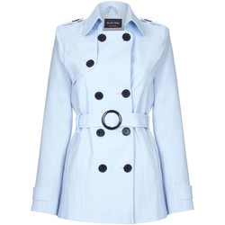 textil Mujer Abrigos De La Creme - Trench con cinturon con lazo en primavera para mujer Blue
