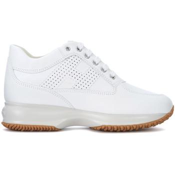 Zapatos Mujer Zapatillas altas Hogan Sneaker Interactive en piel blanca Blanco
