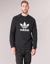 textil Hombre sudaderas adidas Originals TREFOIL CREW Negro