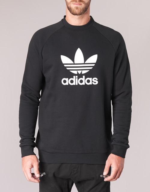 Negro Crew Sudaderas Trefoil Adidas Textil Hombre Originals tQrdCsh