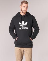 textil Hombre sudaderas adidas Originals TREFOIL HOODIE Negro