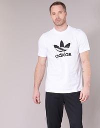 textil Hombre camisetas manga corta adidas Originals TREFOIL T-SHIRT Blanco