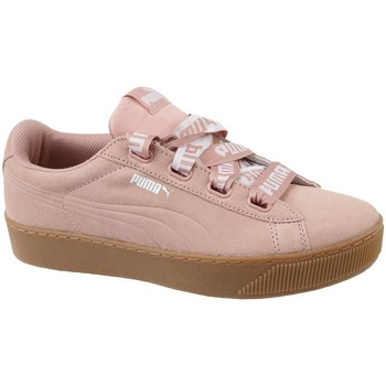 Zapatos Mujer Zapatillas bajas Puma Vikky Platform Ribbon Bold Rosa