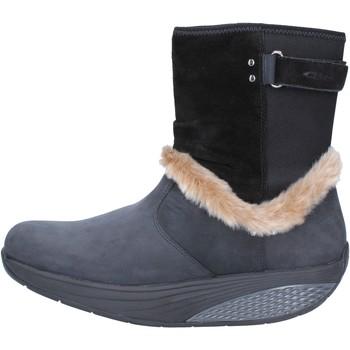 Zapatos Mujer Botines Mbt botines negro nobuck piel AB217 negro