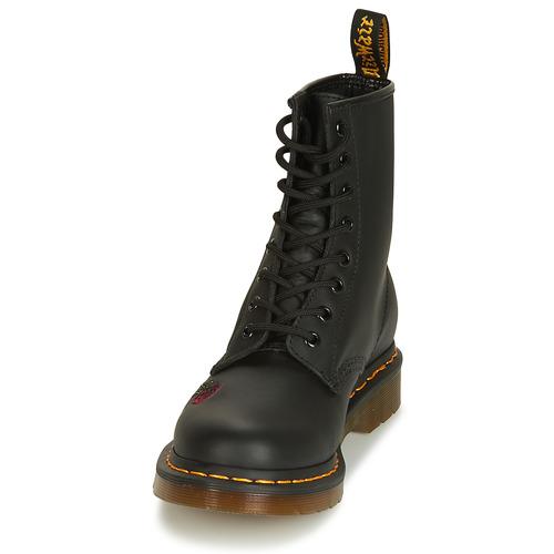 Martens Baja Dr Mujer Caña Vonda Botas 1460 Zapatos Negro De I7gbfv6mYy