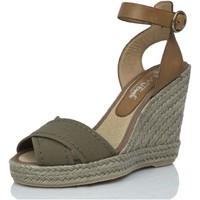 Zapatos Mujer Alpargatas Mtbali Sandalia Alpargata con cuña, Mujer - Modelo Sand Kaki verde
