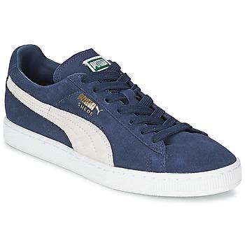 Zapatos Zapatillas bajas Puma SUEDE CLASSIC Azul / Blanco