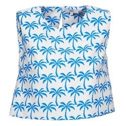 textil Mujer camisetas sin mangas Suncoo LANA Blanco / Azul