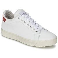 Zapatos Mujer Zapatillas bajas Meline AIMEE Blanco / Rojo