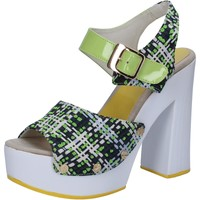 Zapatos Mujer Sandalias Suky Brand sandalias verde textil charol AB309 verde