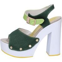 Zapatos Mujer Sandalias Suky Brand sandalias verde textil charol AB314 verde