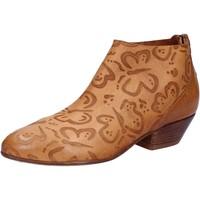 Zapatos Mujer Botines Moma botines marrón cuero AB350 marrón