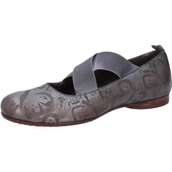 Zapatos Mujer Bailarinas-manoletinas Moma bailarinas gris cuero AB367 gris
