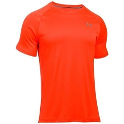 textil Hombre camisetas manga corta Under Armour Heatgear Run SS Tee De color naranja