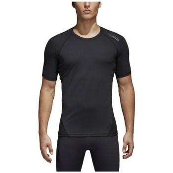 textil Hombre camisetas manga corta adidas Originals Alphaskin Negro