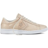 Zapatos Mujer Deportivas Moda Converse PRO LEATHER Beige