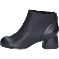 Zapatos Mujer Botines Moma botines negro cuero AB414 negro