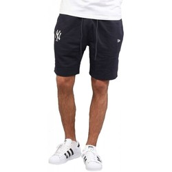 textil Hombre Shorts / Bermudas New Era Team Apparel New York Yankees Pantalones Cortos Azul Azul
