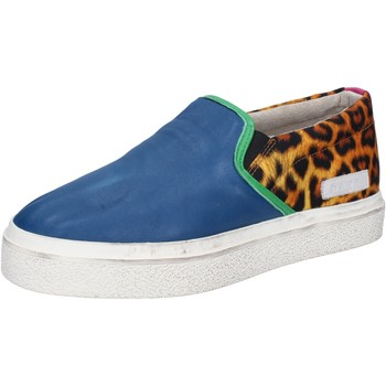 Zapatos Mujer Slip on Date slip on azul cuero textil AB540 azul