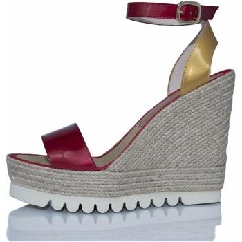Zapatos Mujer Sandalias Mtbali Sandalia Alpargata con cuña, Mujer - Modelo Savane Spain rojo