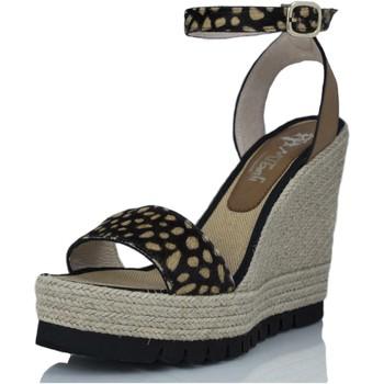 Zapatos Mujer Sandalias Mtbali Sandalia Alpargata con cuña, Mujer - Modelo Savane Potro marrón