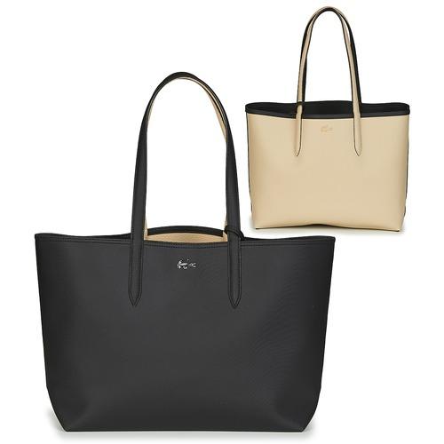 Bolsos Mujer Bolso shopping Lacoste ANNA Negro / Beige