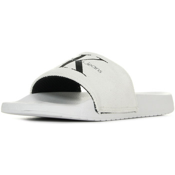 Zapatos Mujer Zuecos (Mules) Calvin Klein Jeans Chantal Heavy Canvas White Blanco