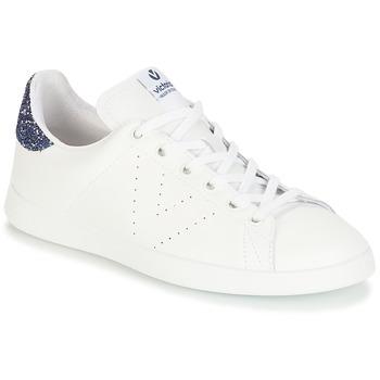 Zapatos Niña Zapatillas bajas Victoria DEPORTIVO BASKET PIEL Blanco / Azul
