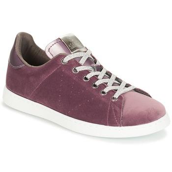 Zapatos Mujer Zapatillas bajas Victoria DEPORTIVO TERCIOPELO Violeta