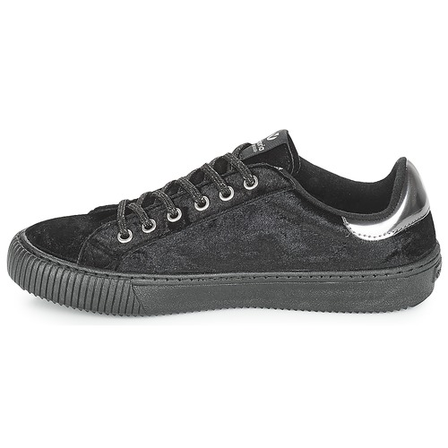 Victoria Deportivo Negro Bajas Zapatos Mujer Terciopelo Zapatillas q4A35RjL