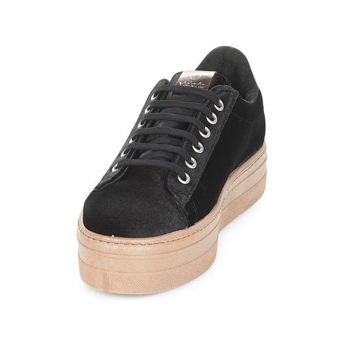 Mujer Terciopelo caram Zapatos Deportivo Zapatillas Negro Bajas Victoria QCWdBoeErx