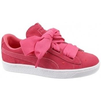 Zapatos Niña Zapatillas bajas Puma Suede Heart Jr rojo