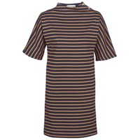 textil Mujer vestidos cortos Petit Bateau TUESDAY Marino / Amarillo