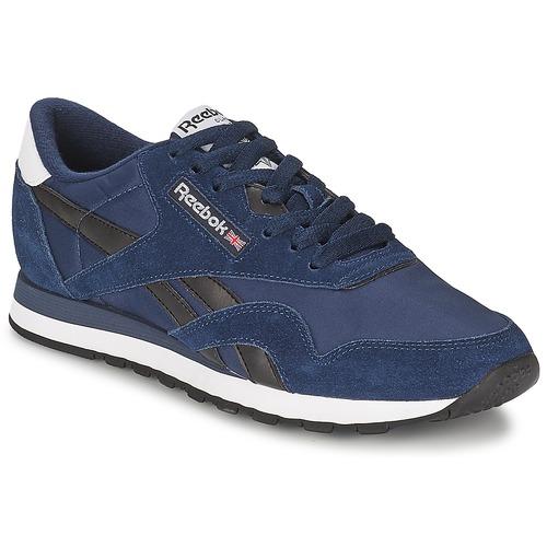 Zapatos Hombre Zapatillas bajas Reebok Classic CL NYLON R13 Marino