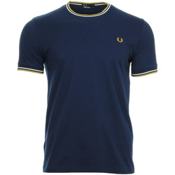 textil Hombre camisetas manga corta Fred Perry Twin Tipped T Shirt Black Azul
