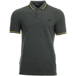 textil Hombre polos manga corta Fred Perry Twin Tipped Shirt Gris