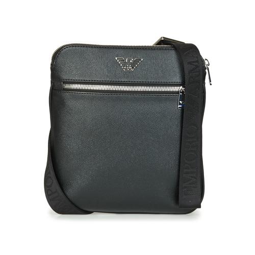 Bolsos Hombre Bolso pequeño / Cartera Emporio Armani BUSINESS FLAT MESSENGER BAG Negro