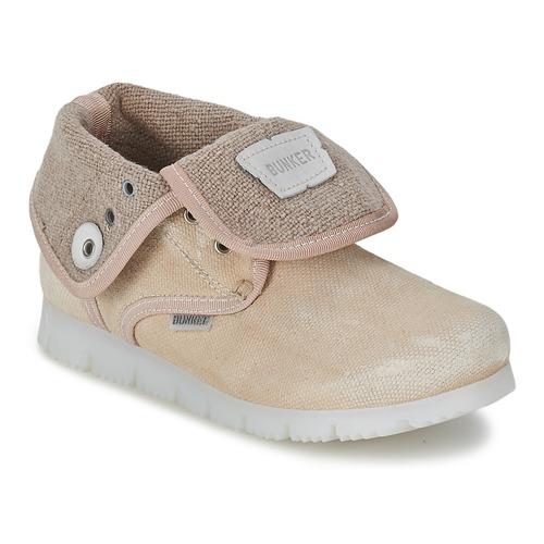 Zapatos Niña Botas de caña baja Bunker LAST WALK Beige