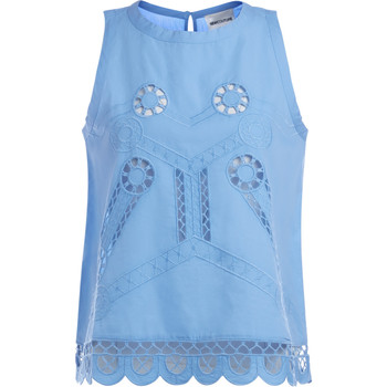 textil Mujer Tops / Blusas Semicouture Blusa  Ingram in cotone pervinca Azul
