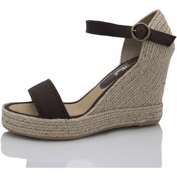 Zapatos Mujer Alpargatas Mtbali Sandalia Alpargata con cuña, Mujer - Modelo Oceanside Low marrón