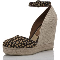 Zapatos Mujer Alpargatas Mtbali Sandalia Alpargata con cuña, Mujer - Modelo Altea Potro marrón