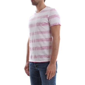 Guess M82I06 K6XP0 JEREMY STRIPED T-SHIRT Hombre WHITE RED WHITE RED