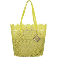 Bolsos Mujer Bolso shopping Café Noir Bp001 Shopping amarillo