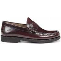 Zapatos Hombre Zapatos bajos Fluchos F0047 Burdeos rojo