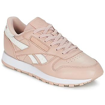 Zapatos Mujer Zapatillas bajas Reebok Classic CLASSIC LEATHER Rosa / Blanco