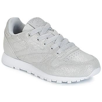 Zapatos Niña Zapatillas bajas Reebok Classic CLASSIC LEATHER C Plata
