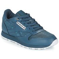 Zapatos Niños Zapatillas bajas Reebok Classic CLASSIC LEATHER J Marino